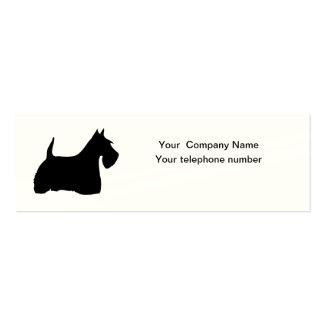Tarjeta de visita escocesa de la silueta del perro