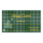 Tarjeta de visita escocesa de la tela escocesa de