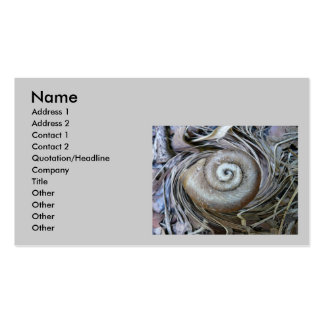 Tarjeta de visita espiral de Shell del caracol
