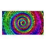 Tarjeta de visita espiral del arco iris