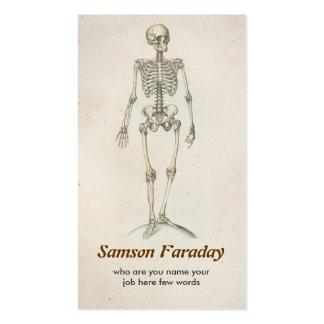 tarjeta de visita esquelética de la anatomía
