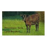 Tarjeta de visita estándar de la granja de Bull o