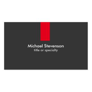 Tarjeta de visita estándar de la raya roja gris