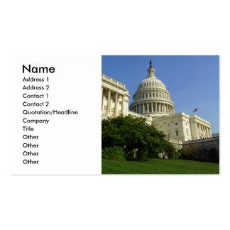 Tarjeta de visita estándar del Washington DC del c