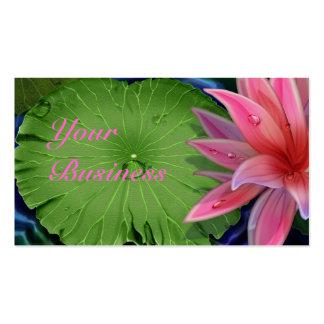 Tarjeta de visita estándar rosada de Lotus