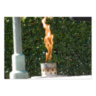 Tarjeta de visita eterna de la llama