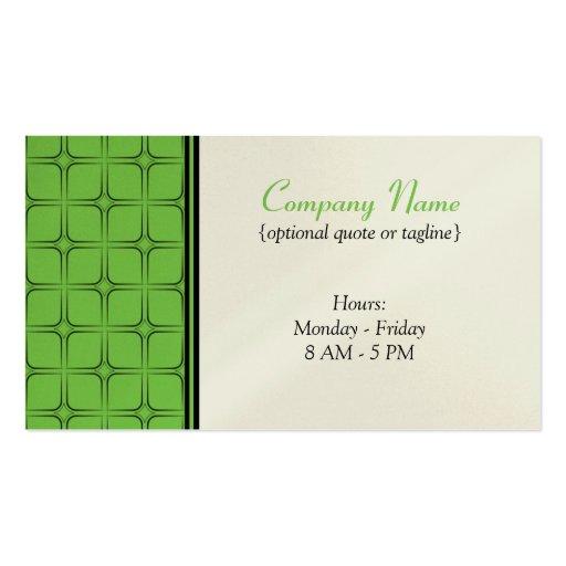 Tarjeta de visita fabulosa retra, verde clara