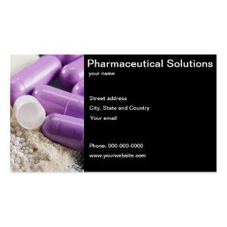 Tarjeta de visita farmacéutica de las soluciones