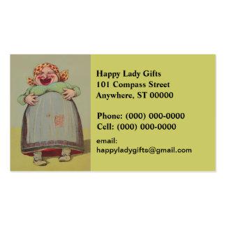 Tarjeta de visita feliz de señora Laughing LOL de