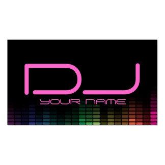Tarjeta de visita femenina de DJ