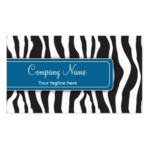 Tarjeta de visita femenina del estampado de zebra