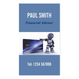 Tarjeta de visita financiera