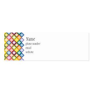 Tarjeta de visita flaca brillante de los cuadrados