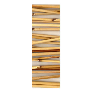 tarjeta de visita flaca de bambú