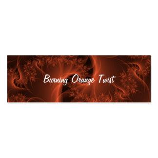 Tarjeta de visita flaca de la torsión anaranjada a