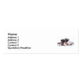 Tarjeta de visita flaca de los perritos del barro