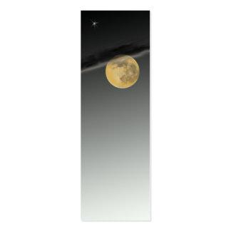 Tarjeta de visita flaca de Moonscape