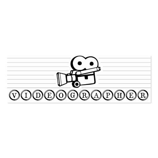 Tarjeta de visita flaca de Videographer