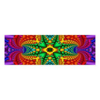Tarjeta de visita flaca del arco iris psicodélico