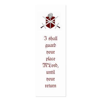 tarjeta de visita flaca del caballero y de la