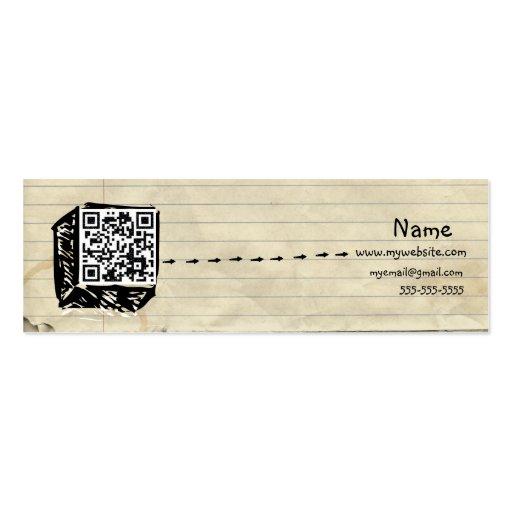 Tarjeta de visita flaca del código de QR