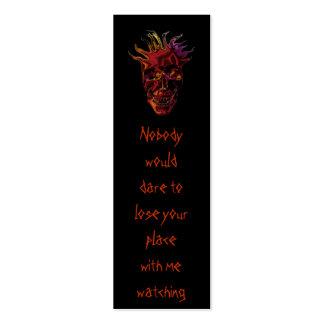 tarjeta de visita flaca del cráneo