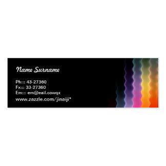 tarjeta de visita flaca del diseño abstracto