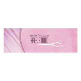 Tarjeta de visita flaca del salón moderno rosado d