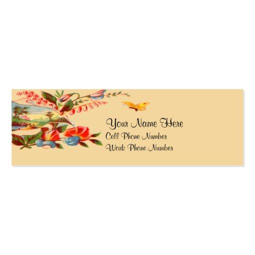 Tarjeta de visita flaca floral del Victorian del