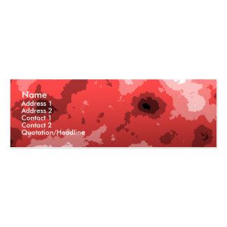 tarjeta de visita flaca roja del filo