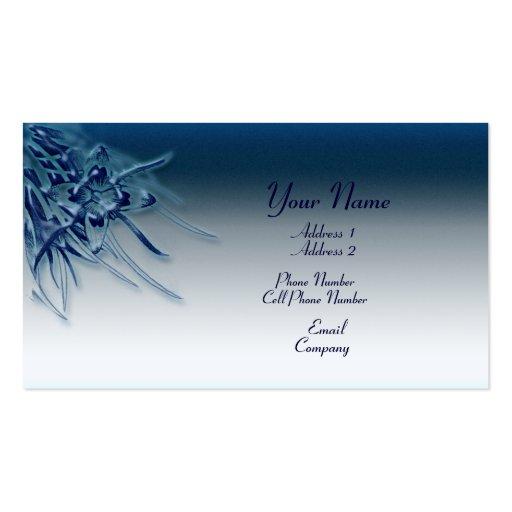Tarjeta de visita - flor azul