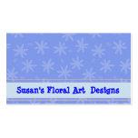 Tarjeta de visita floral azul
