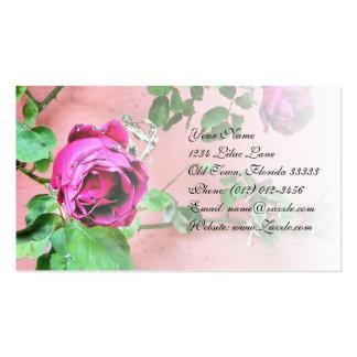 Tarjeta de visita floral color de rosa irlandesa