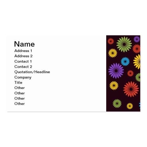 Tarjeta de visita floral colorida linda