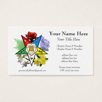 Tarjeta de visita floral de la estrella del este