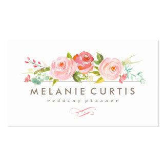 Tarjeta de visita floral de la rosaleda