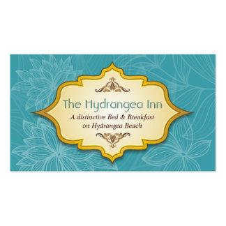 Tarjeta de visita floral de la turquesa de la hosp