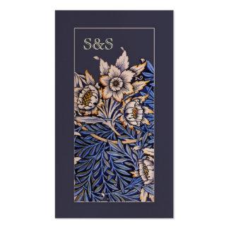 Tarjeta de visita floral de Nouveau del arte