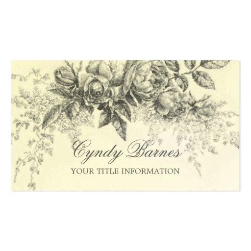 Tarjeta de visita floral del aerosol del vintage