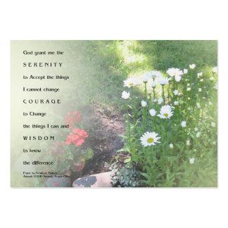 Tarjeta de visita floral del rezo de la serenidad