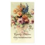 Tarjeta de visita floral del vintage