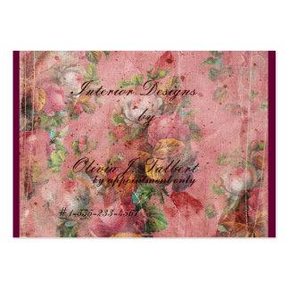 Tarjeta de visita floral elegante