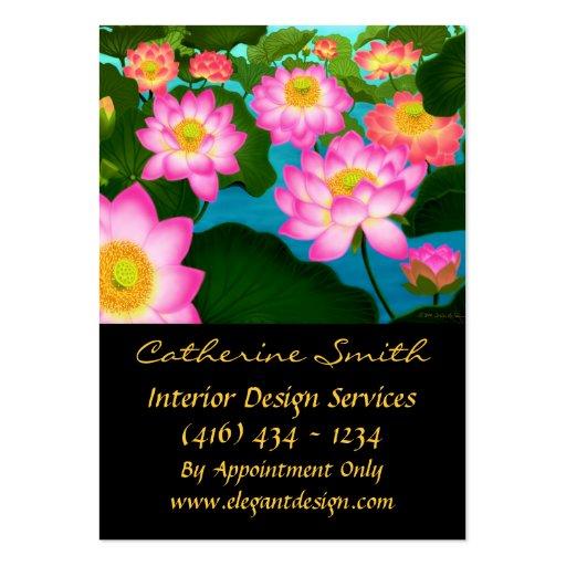 Tarjeta de visita floral elegante de Lotus