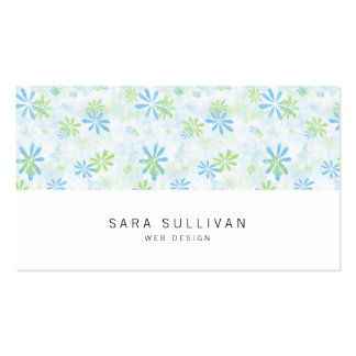 Tarjeta de visita floral en colores pastel del