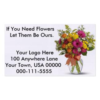 Tarjeta de visita floral (hágala para caber sus ne