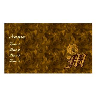 Tarjeta de visita floral M del Peony inicial del o