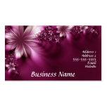 tarjeta de visita floral rosada
