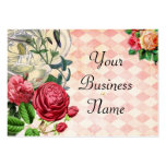 Tarjeta de visita floral rosada de Argyle