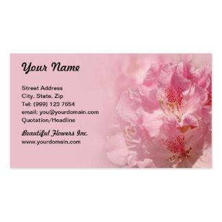Tarjeta de visita floral rosada hermosa