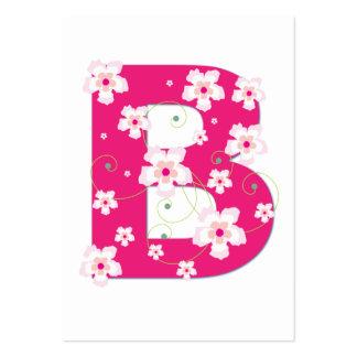 Tarjeta de visita floral rosada inicial del monogr